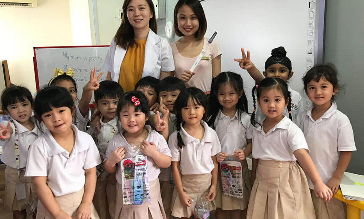 We visited the adorable kiddies at The Montessori Place